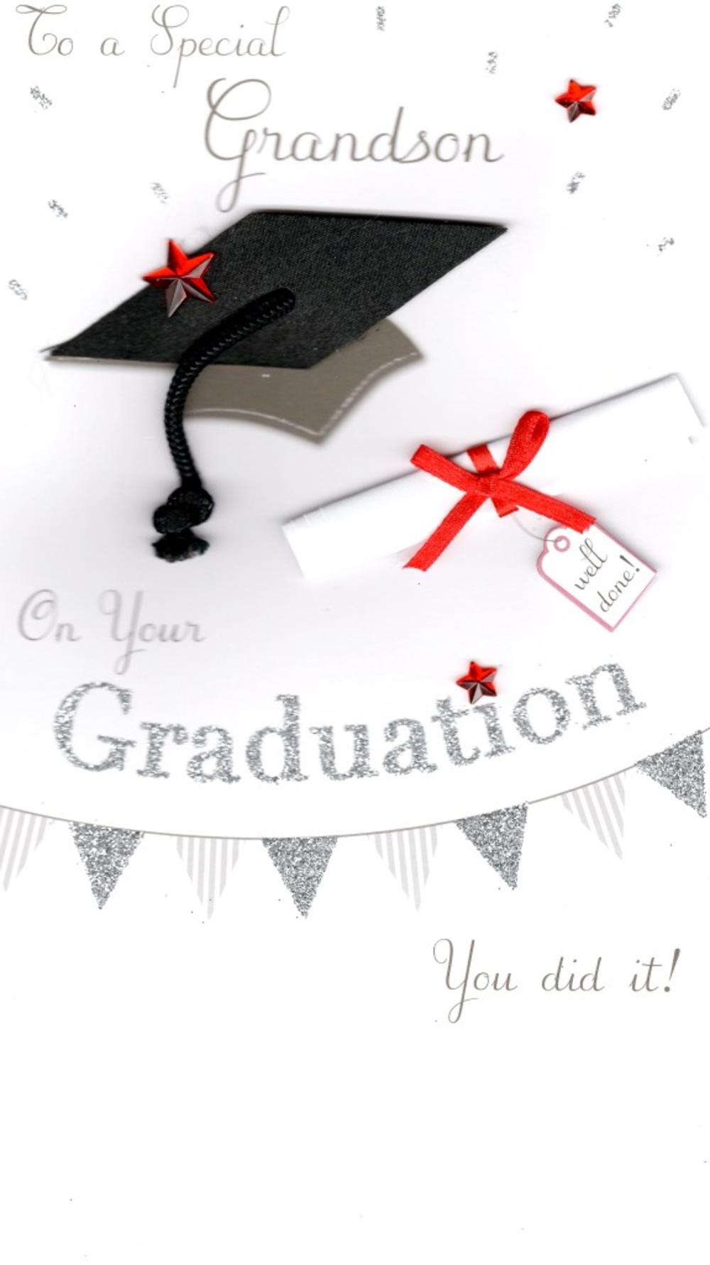 Grandson Graduation Congratulations Greeting Card Cards Love Kates