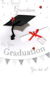 Grandson Graduation Congratulations Greeting Card