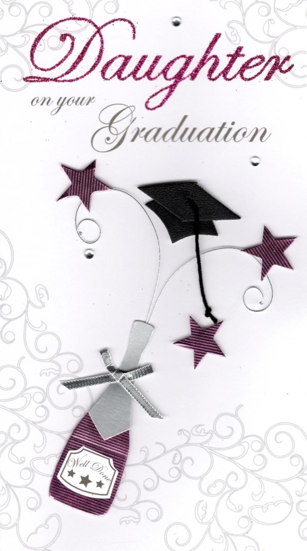 Daughter Graduation Congratulations Greeting Card Cards Love Kates