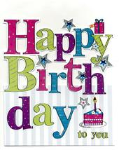 Large Happy Birthday To You Greeting Card