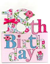 Large 18th Birthday Greeting Card