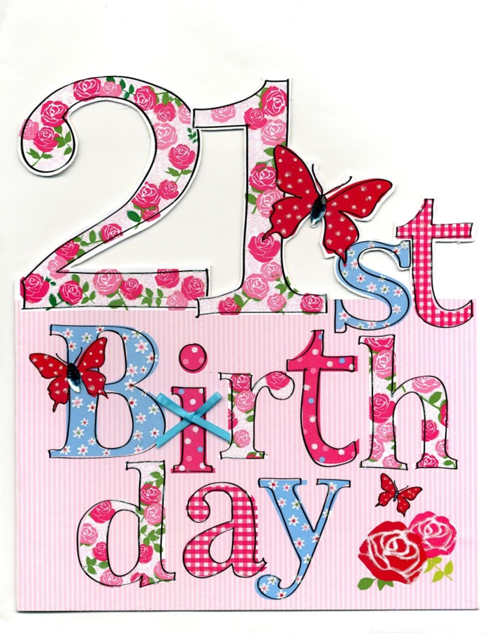 Large 21st Birthday Greeting Card