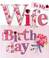 Large To My Wife Birthday Greeting Card