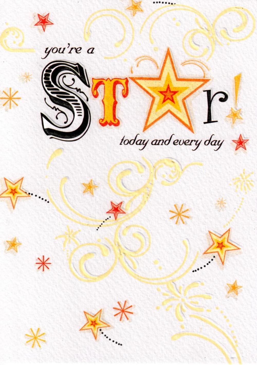 You're A Star Happy Birthday Card