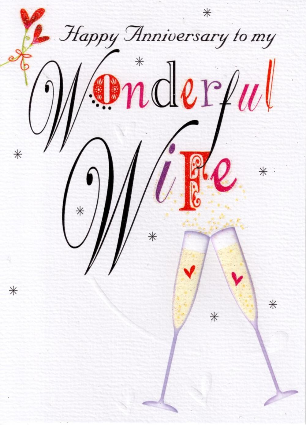 Happy Anniversary Wonderful Wife Card