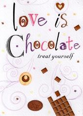 Love Is Chocolate Happy Birthday Card