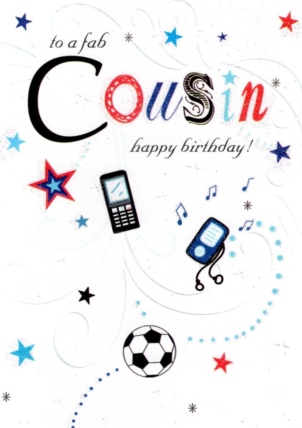 Fab Cousin Happy Birthday Card