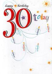 30 Today Happy 30th Birthday Card