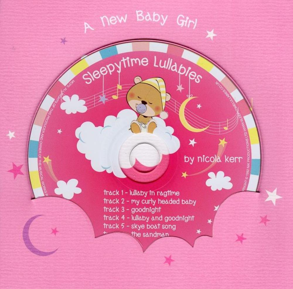 New Baby Girl Lullaby CD Greeting Card