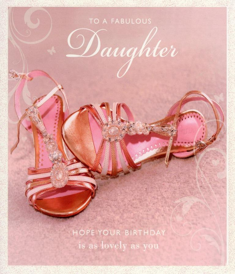 Sentinel Fabulous Daughter Birthday Greeting Card Glitter Decorated Greetings Cards