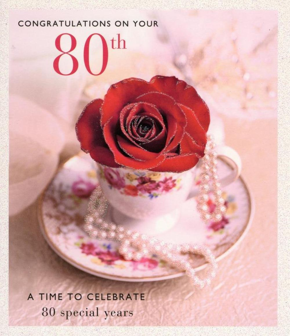 Happy 80th birthday greeting card cards love kates happy 80th birthday greeting card m4hsunfo
