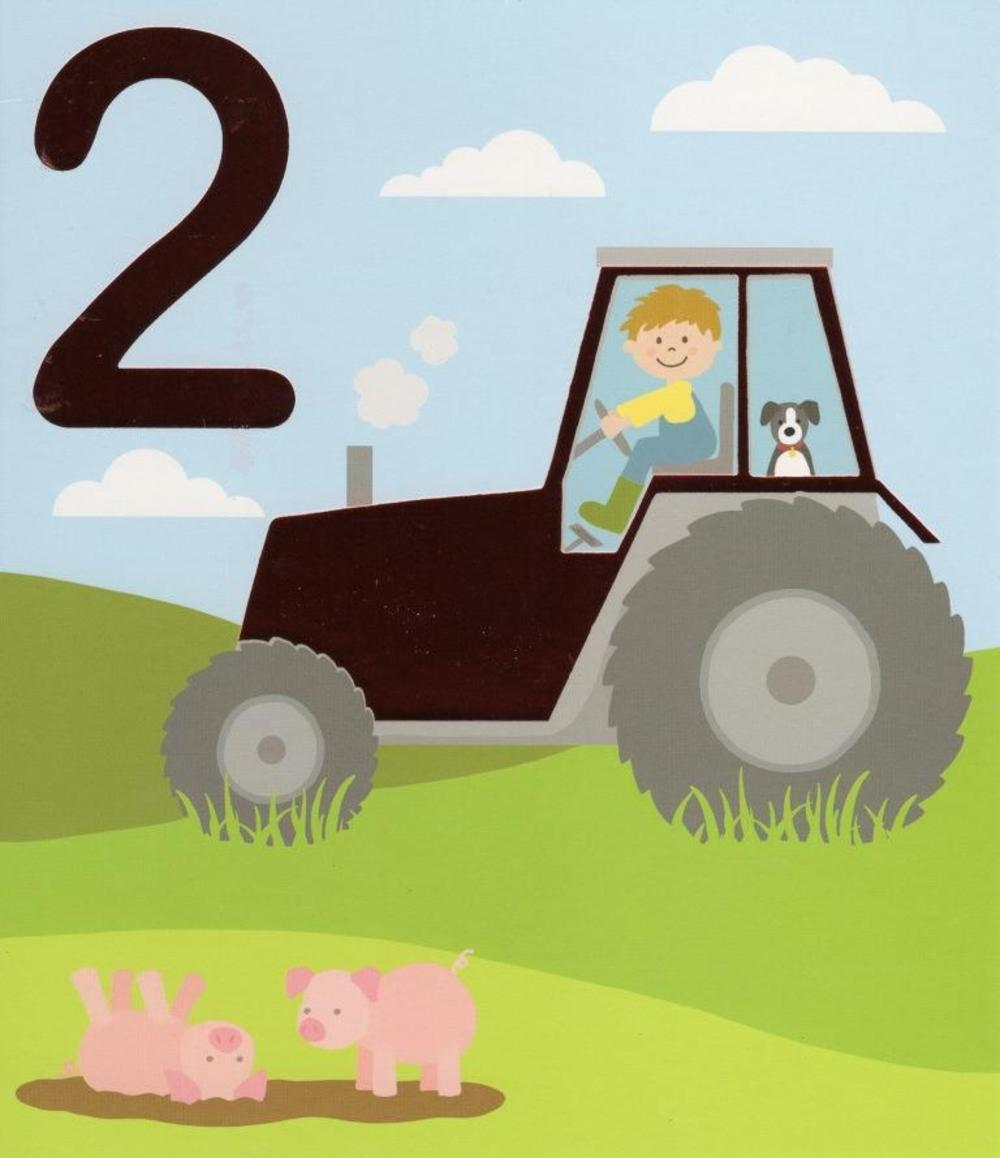 2 today happy 2nd birthday tractor greeting card cards love kates 2 today happy 2nd birthday tractor greeting card bookmarktalkfo Choice Image