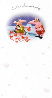 On Our Anniversary Clangers Greeting Card