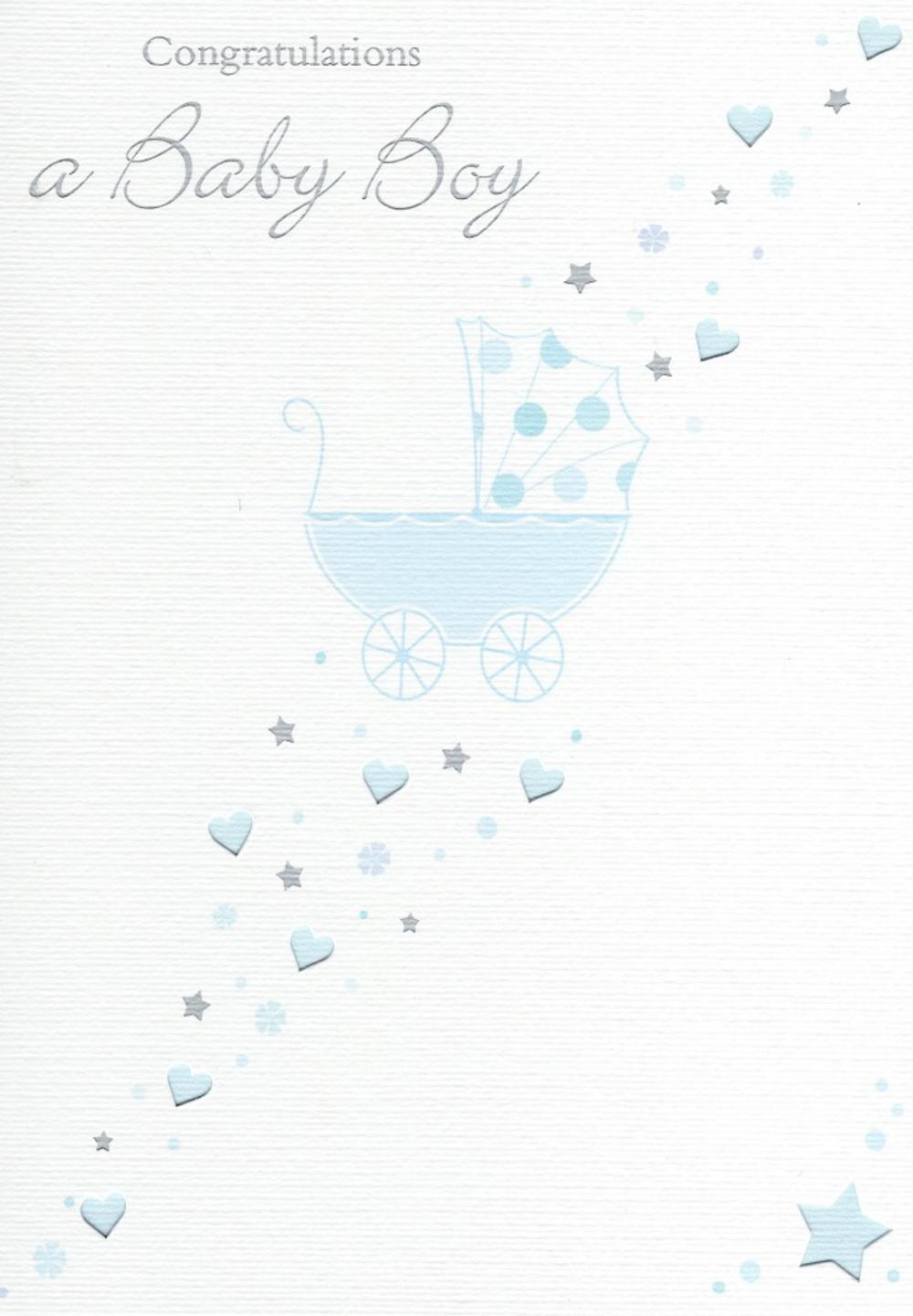 Congratulations A Baby Boy Greeting Card