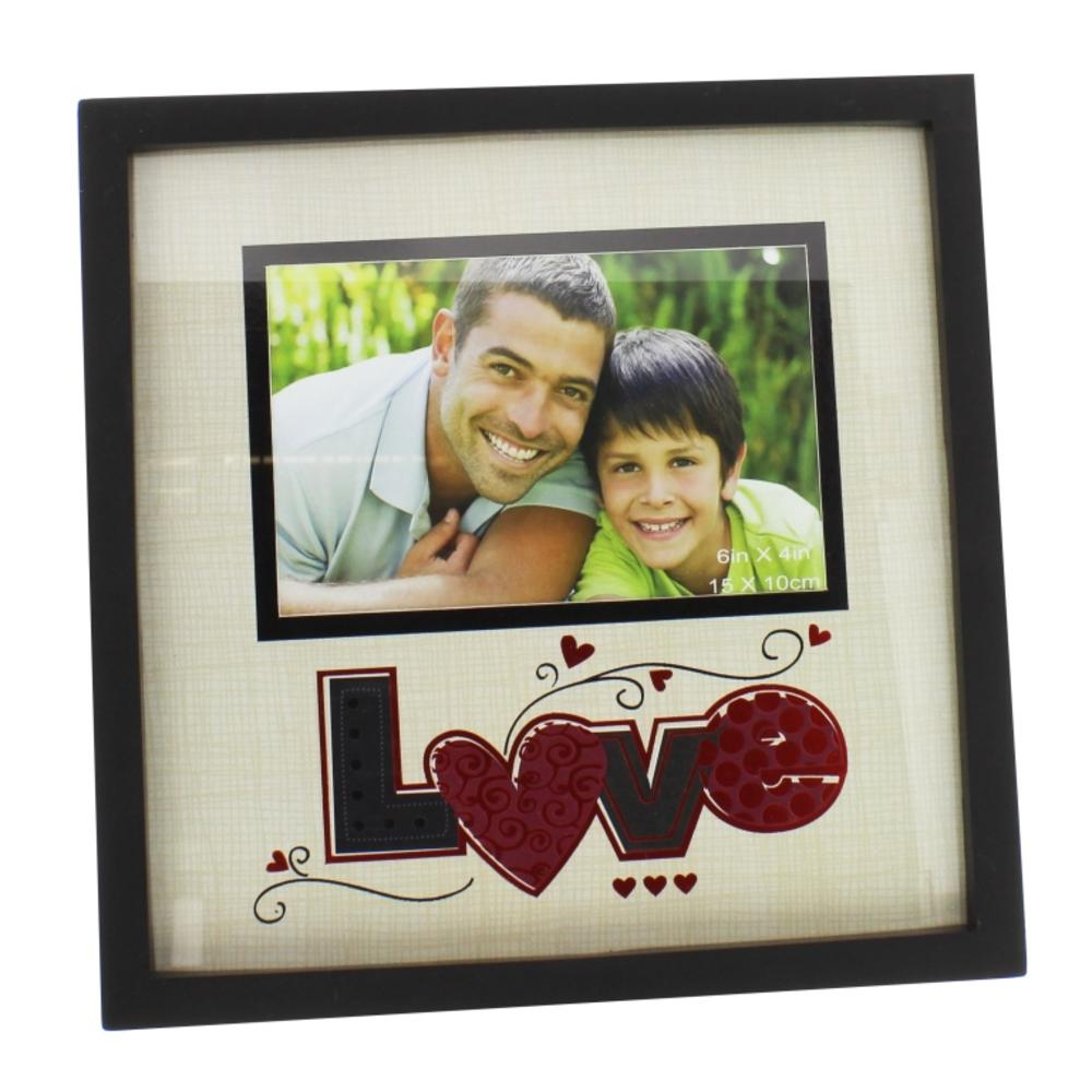 """Love 6"""" x 4"""" New View Photo Frame"""
