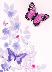 Happy 90th Birthday Butterfly Greeting Card