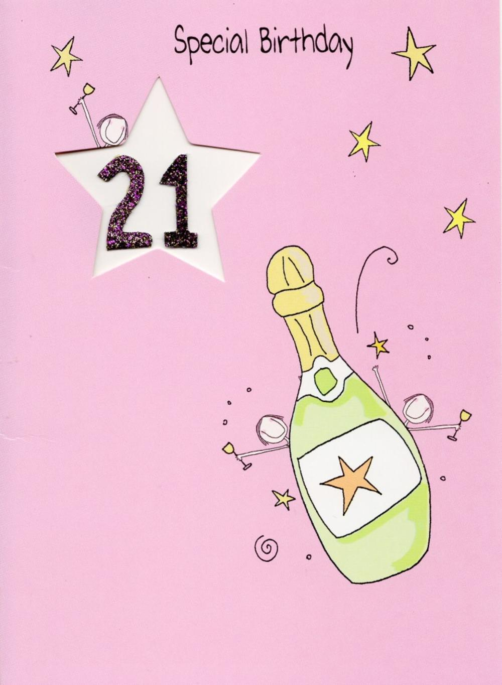 Happy 21st birthday greeting card cards love kates happy 21st birthday greeting card bookmarktalkfo Image collections
