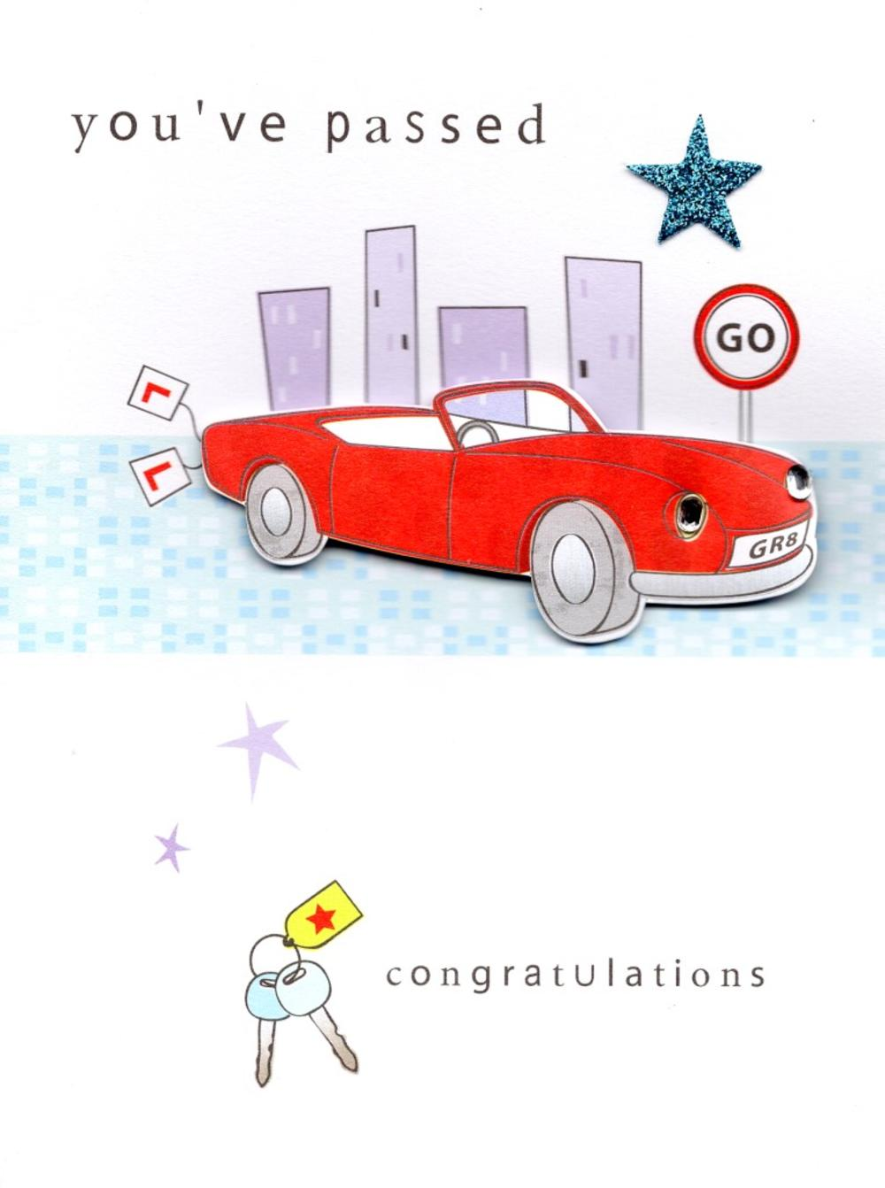 You've Passed Driving Test Greeting Card