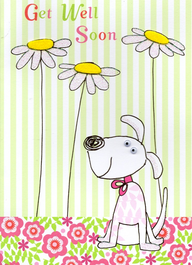 Get Well Soon Cute Greeting Card