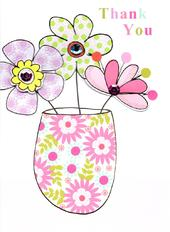 Pretty Flowers Thank You Greeting Card