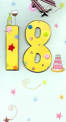 Happy 18th Birthday Greeting Card