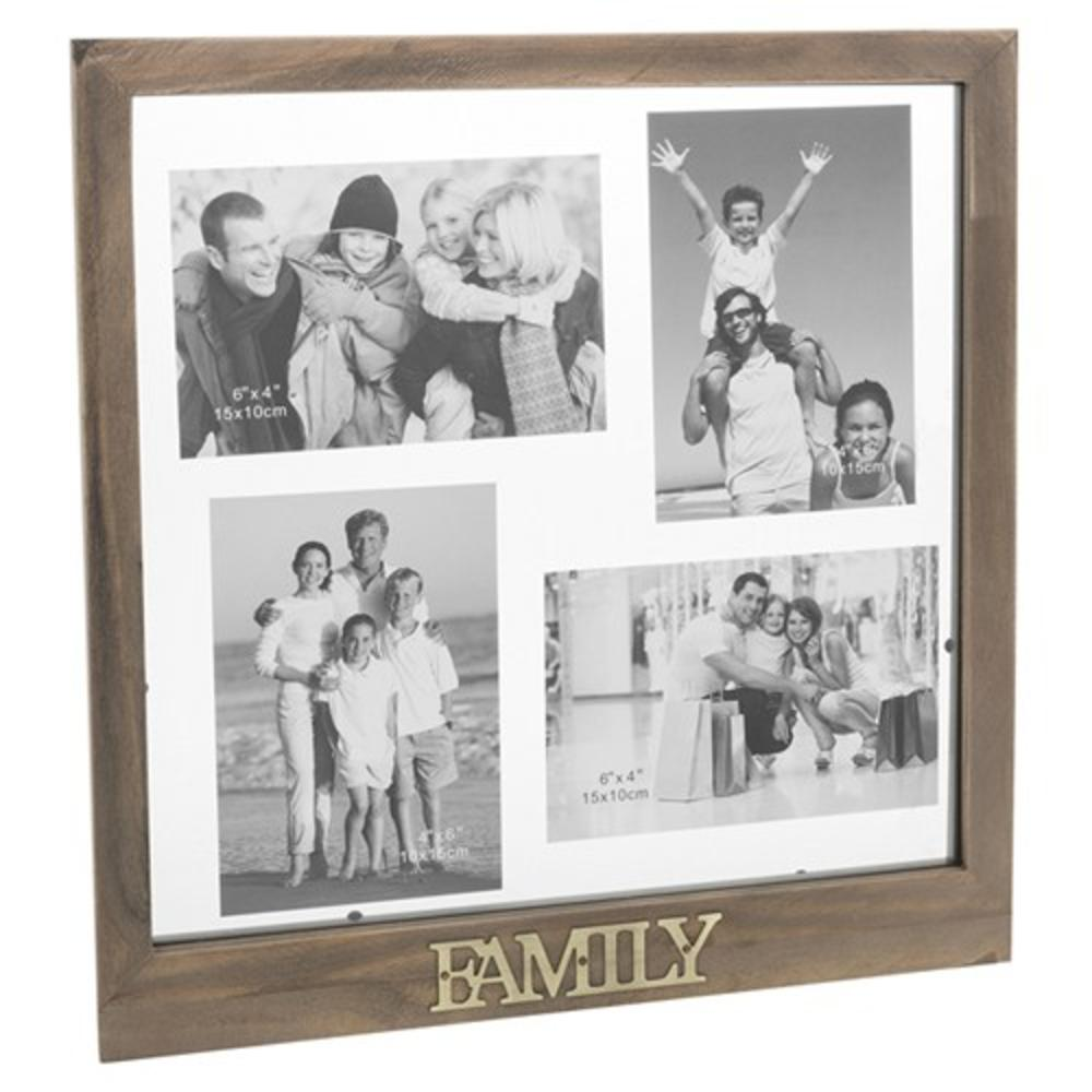 Family Rustic Wooden Floating Collage Photo Frame | Gifts | Love Kates