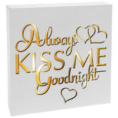 Always Kiss Me Goodnight Light Up Block Art Box