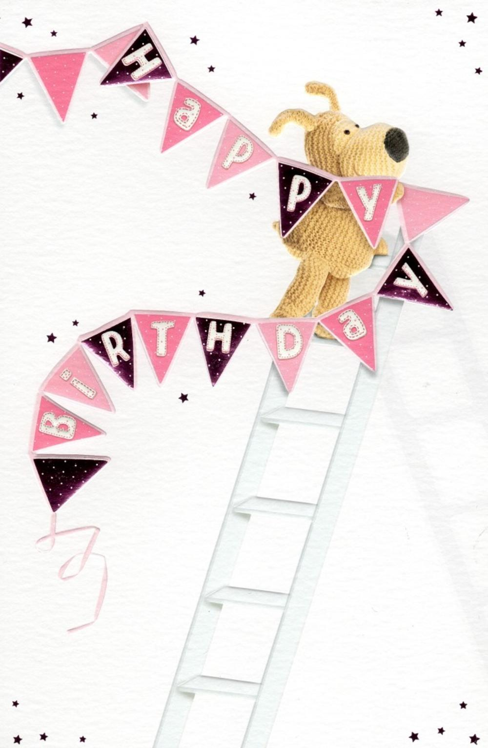Boofle Happy Birthday Bunting Greeting Card