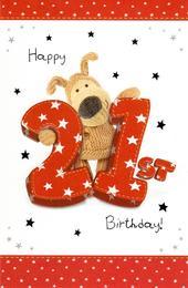 Boofle Happy 21st Birthday Greeting Card