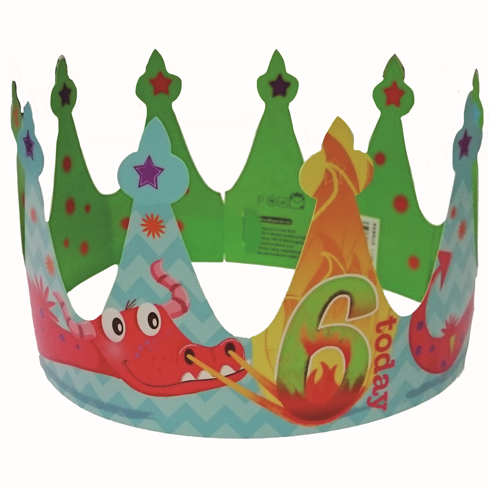 6 Today Happy 6th Birthday Crown Greeting Card