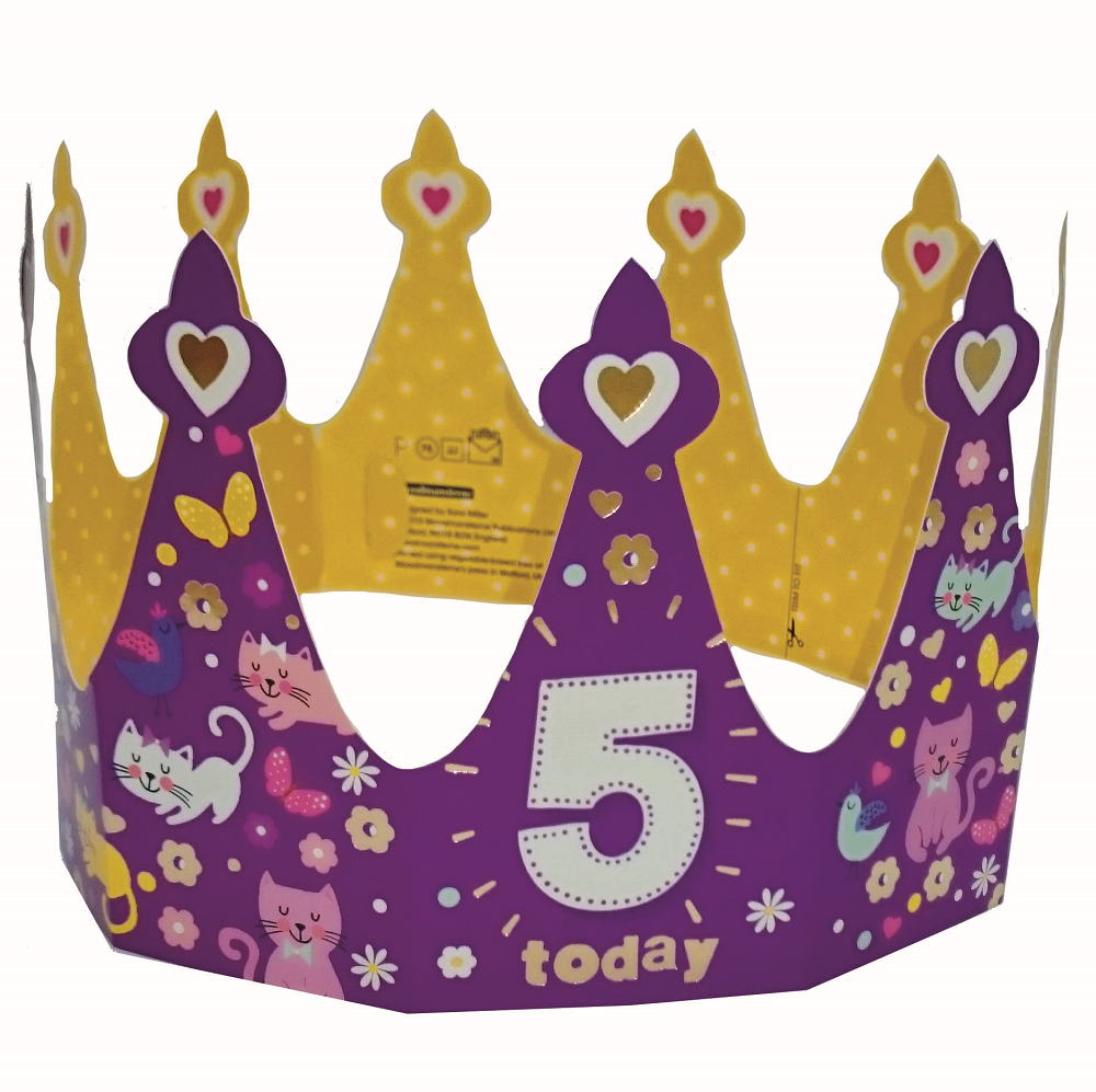 5 today happy 5th birthday crown greeting card cards love kates 5 today happy 5th birthday crown greeting card bookmarktalkfo Image collections