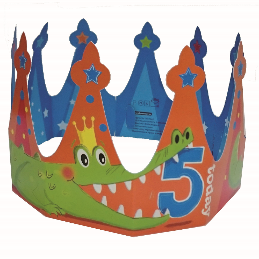 5 Today Happy 5th Birthday Crown Greeting Card