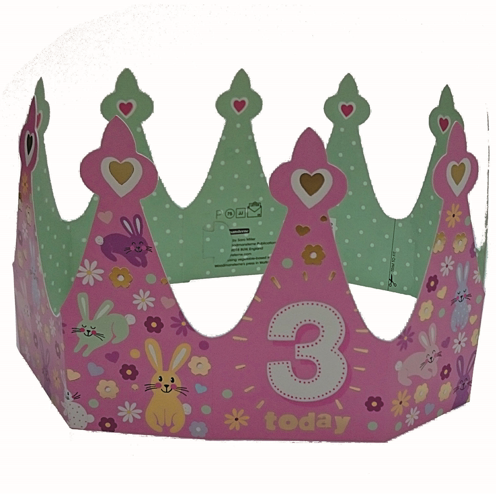 3 Today Happy 3rd Birthday Crown Greeting Card
