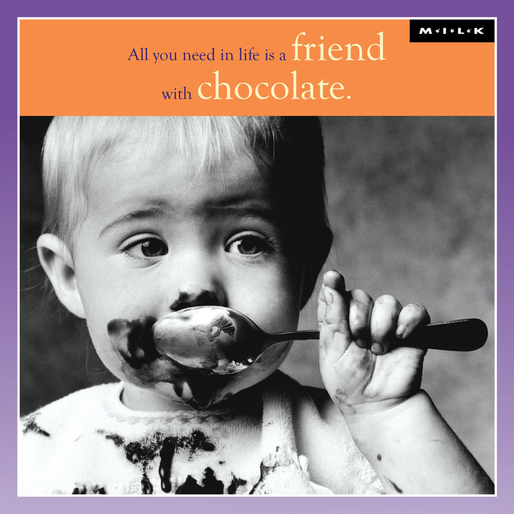 A Friend With Chocolate Birthday Greeting Card