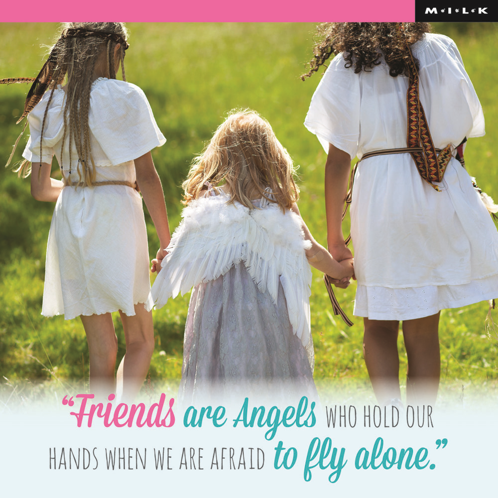 Friends Are Angels Who Hold Our Hands Greeting Card