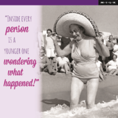 Inside Every Person Funny Birthday Greeting Card
