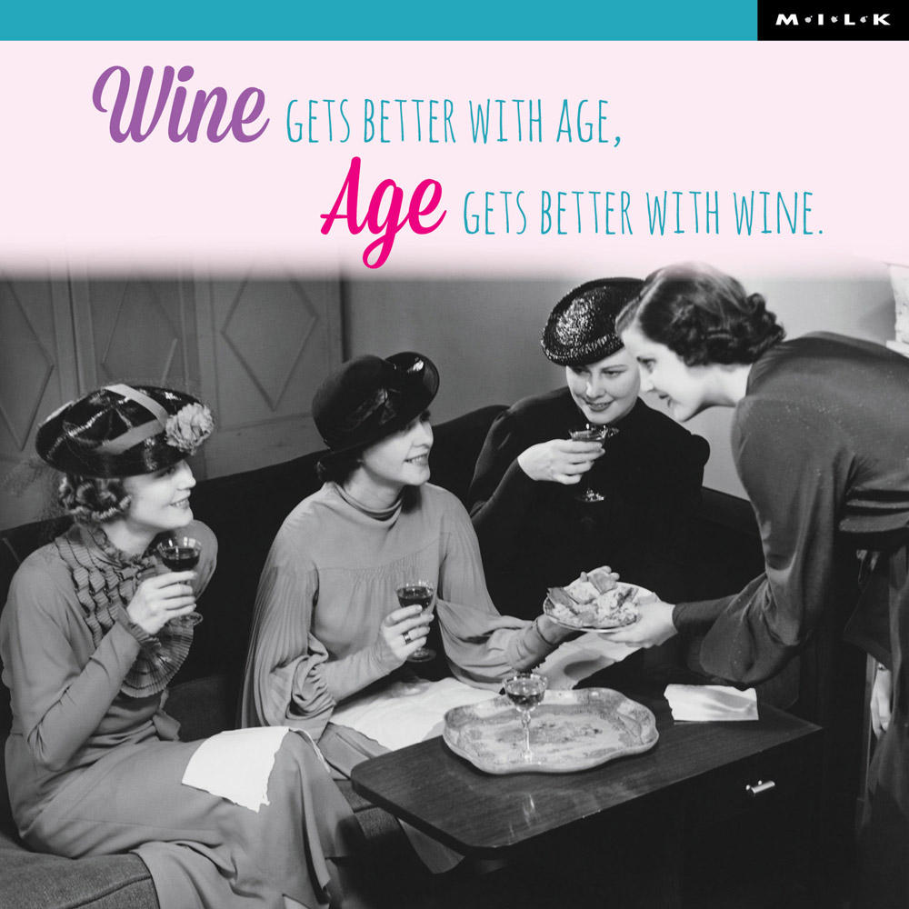 Age Gets Better With Wine Birthday Greeting Card