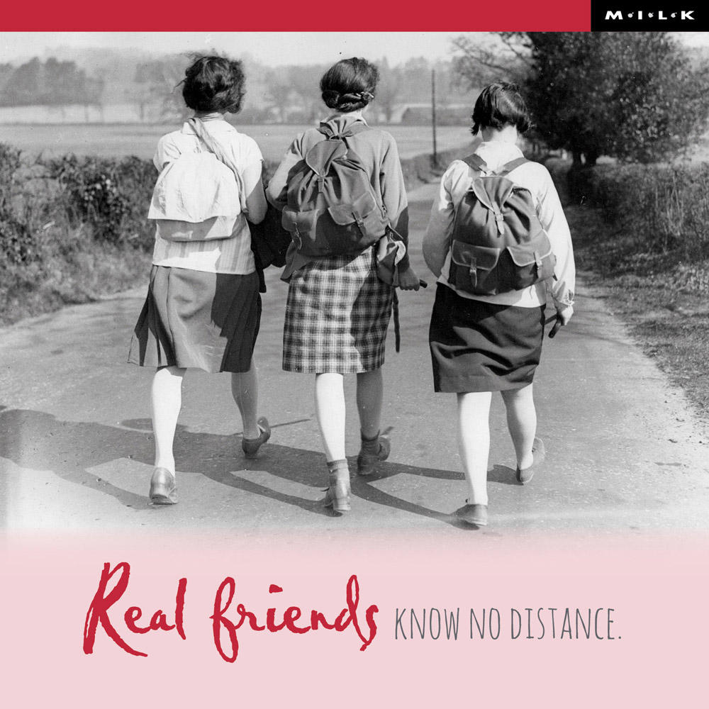 Real Friends Know No Distance Birthday Greeting Card