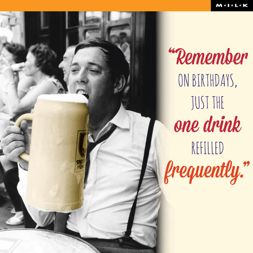 Remember Just One Drink Birthday Greeting Card
