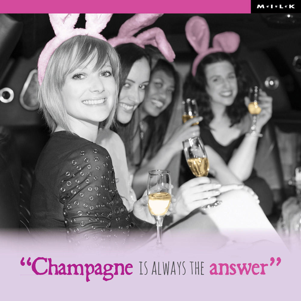 Champagne Is Always The Answer Birthday Greeting Card