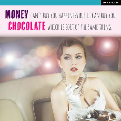 Money Can Buy Chocolate Birthday Greeting Card
