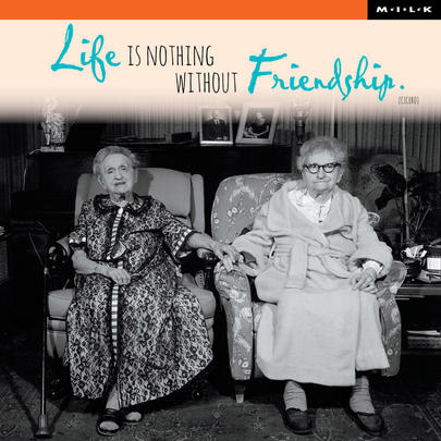 Life Is Nothing Without Friendship Birthday Greeting Card
