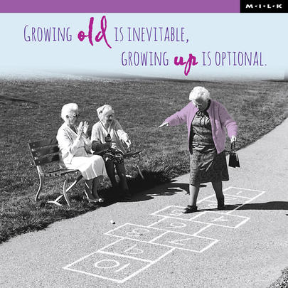 Growing Up Is Optional Birthday Greeting Card