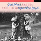 Great Friends Are Hard To Find Birthday Greeting Card