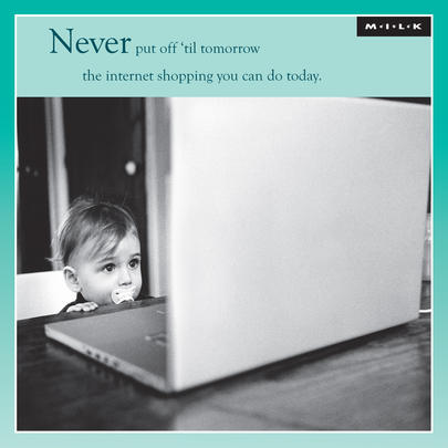 Never Put Off 'Til Tomorrow Birthday Greeting Card