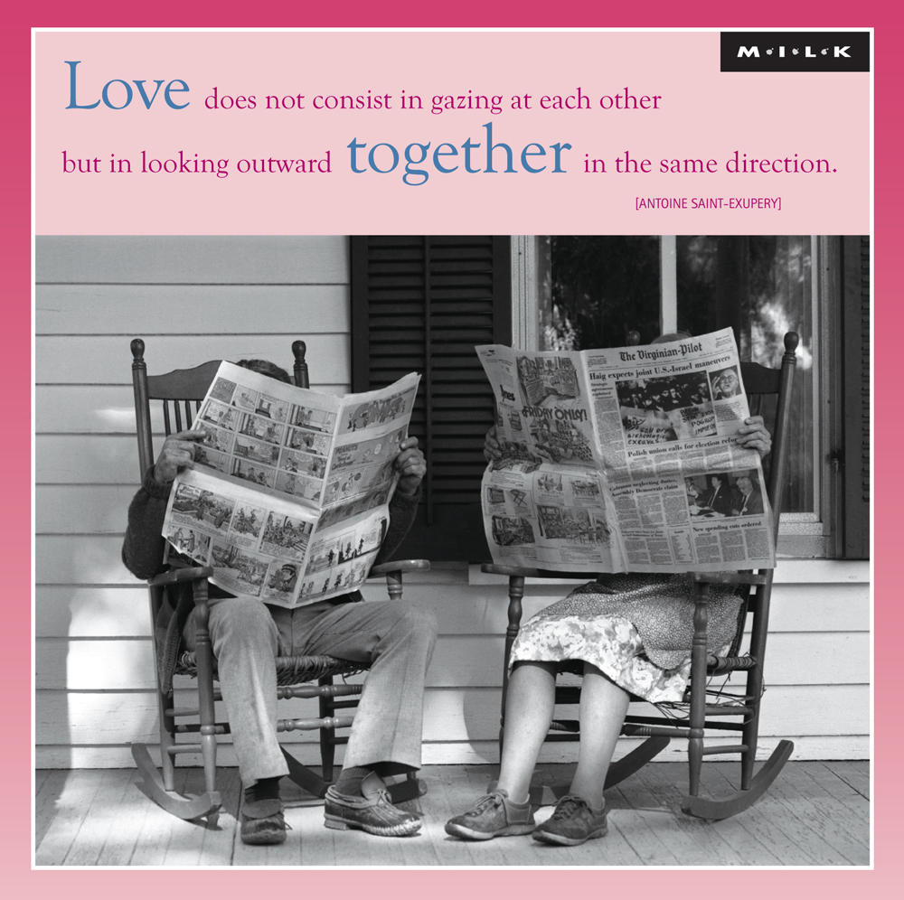 Love Is Looking Outward Together Greeting Card
