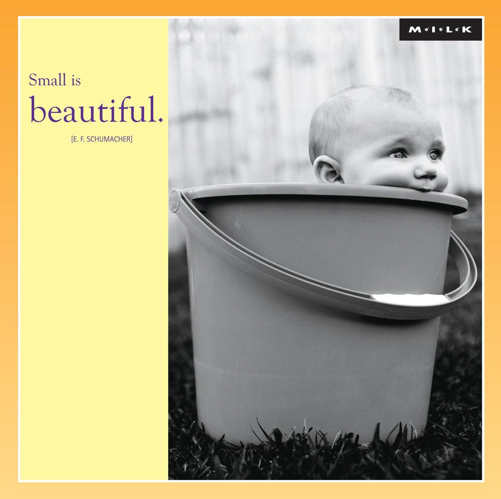 Small Is Beautiful Blank Greeting Card