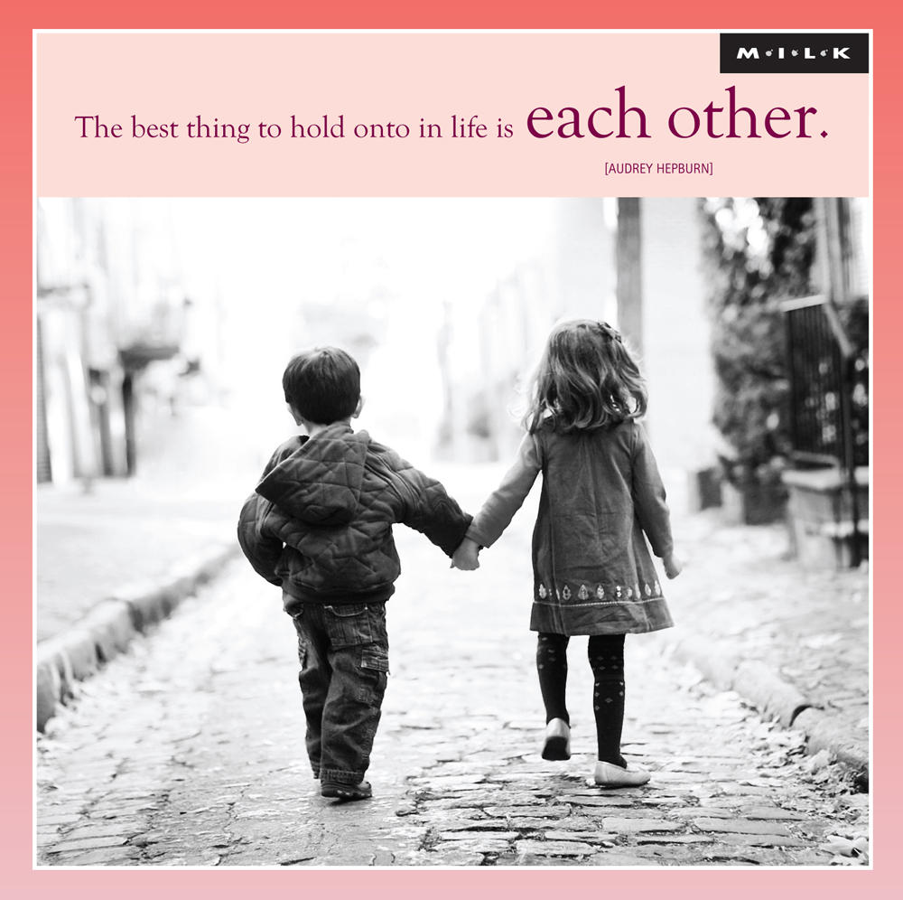 The Best Thing To Hold Onto In Life Blank Greeting Card