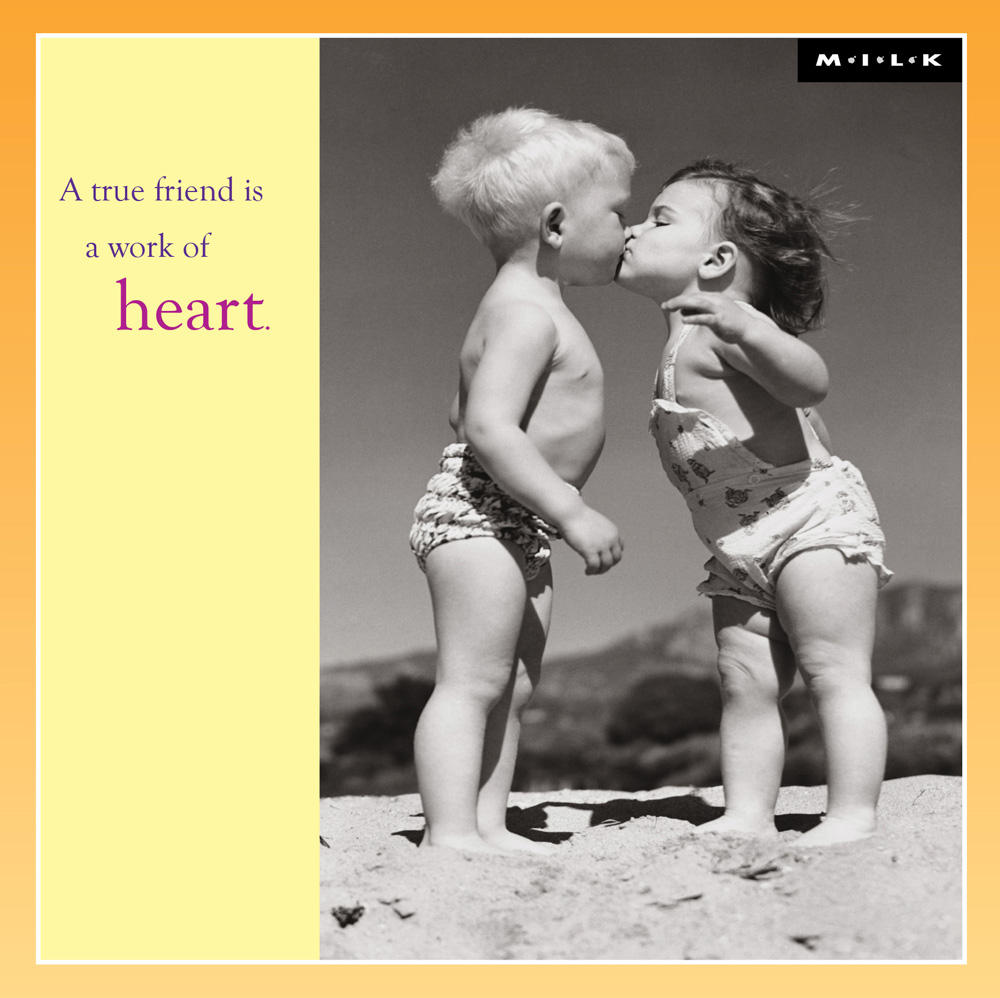 A True Friend Is A Work Of Heart Greeting Card