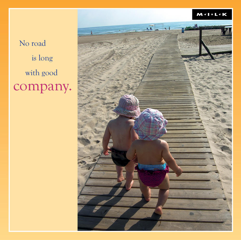 No Road Long With Good Company Greeting Card